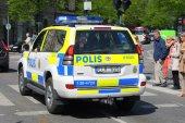 Stockholm - Police Car — Stock Photo