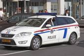 Luxembourg - Police intervene — Stock Photo