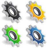 Gear Icon Set — Stock Vector