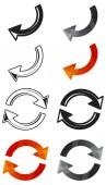 Arrow icons — Stock Vector