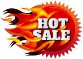 Hot Sale Label — Stock Vector