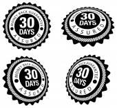 Money Back Guarantee 30 Days — Stock Vector