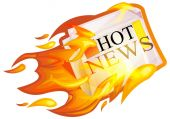 Hot News Icon — Stock Vector