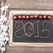 Happy New Year 2015 greeting card — Stock Photo #52668335