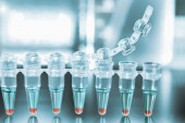 Tubes for DNA amplification by PCR — Stock Photo