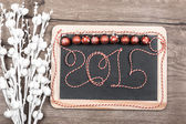 Happy New Year 2015 greeting card — Stock Photo