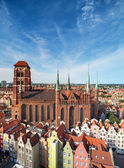 Church of the Blessed Virgin Mary in Gdansk — Stock Photo