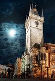 Prague, Old Town Hall at night — Stock Photo