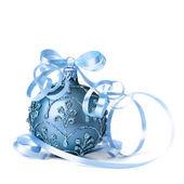 Dark blue Christmas bauble — Stock Photo