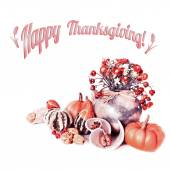 Happy Thanksgiving! Greeting card — Stock Photo