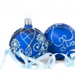 Blue Christmas Baubles — Stock Photo #53802871