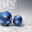 Blue Christmas decorations — Stock Photo #53802969