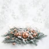 Bronze Christmas decorations — Foto Stock