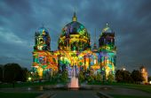 Berlin Cathedral at night — Stock Photo