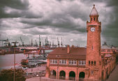 The St. Pauli Piers in Hamburg — Stock Photo
