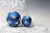 Blue Christmas decorations — Stock Photo