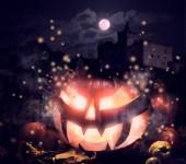 Jack o'Lantern pumpkin — Stockfoto