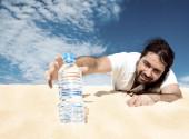 Thirsty man — Stock Photo