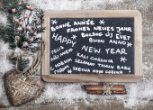 """""""Happy new year"""" in different languages — Stock Photo"""