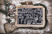 """""""Happy New Year"""" in many languages — Stock Photo"""