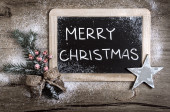 """Merry Christmas"" blackboard — Stock Photo"