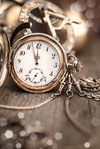 Vintage watch on abstract vintage background — Stock Photo