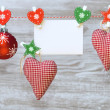 Christmas decorations and card — Stock Photo #58051185