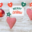 Decorations and greeting card — Stock Photo #58051215