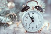 Clock showing five to midnight — Stock Photo