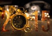 Tarjeta con reloj vintage — Foto de Stock
