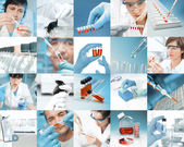 Scientists work — Stockfoto