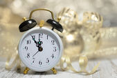 Clock showing five to midnight. — Stock Photo