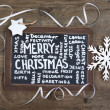 Merry Christmas board — Stock Photo #59849727