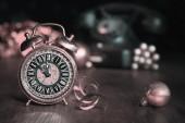Año nuevo reloj — Foto de Stock