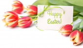 "Greeting card ""Happy Easter"" — Stock Photo"