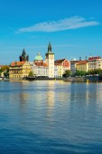 Prague old town across Vlava river — Stock Photo