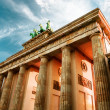 Brandenburg Gate on sunset — Stock Photo #65110755