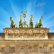 Illuminated quadriga on top — Stock Photo #65110789