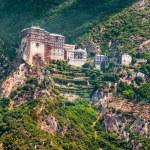 Holy Monastery of Simonos Petra — Stock Photo #66385207