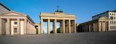 Panorama of Brandenburg Gate — Stock Photo