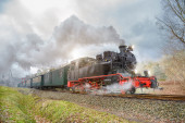 Historical steam train on Rugen in Germany — Stock Photo