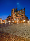 St. Nicolas Church in the evening, Stralsund — Fotografia Stock