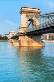 Budapest chain bridge — Foto Stock