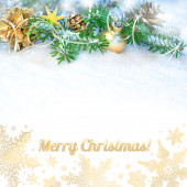 "Greeting card ""Merry Christmas!"" — Stock Photo"