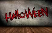 Halloween Font Design on Brick Wall Background — Stock Photo