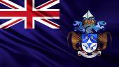 на фоне национального флага — Стоковое фото