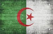 Die nationalflagge algerischen — Stockfoto