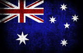 The National Flag of the Australian — Stock Photo
