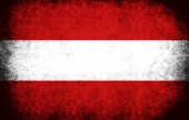 The National Flag of the Austria — Stock Photo