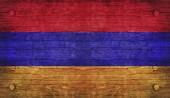 Die nationalflagge der armenien — Stockfoto